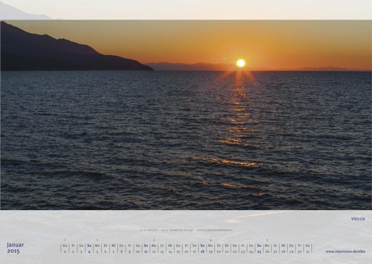 Januarblatt Kalender 2015 –Elba