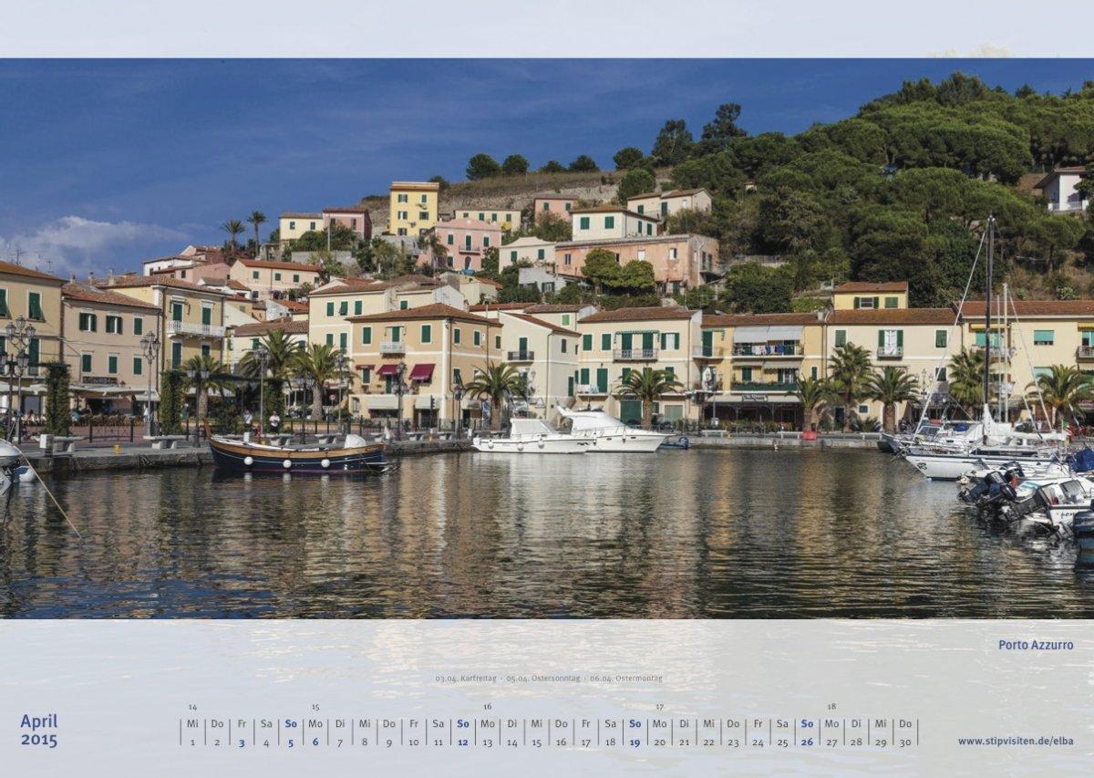 Aprilblatt Kalender 2015 –Elba