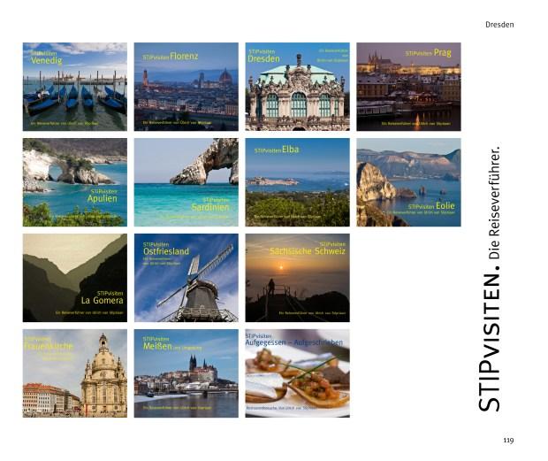 Zusammenstellung der Buchtitel der Reiseverführer