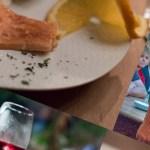 Saurer Wein und frischgeräucherter Lachs