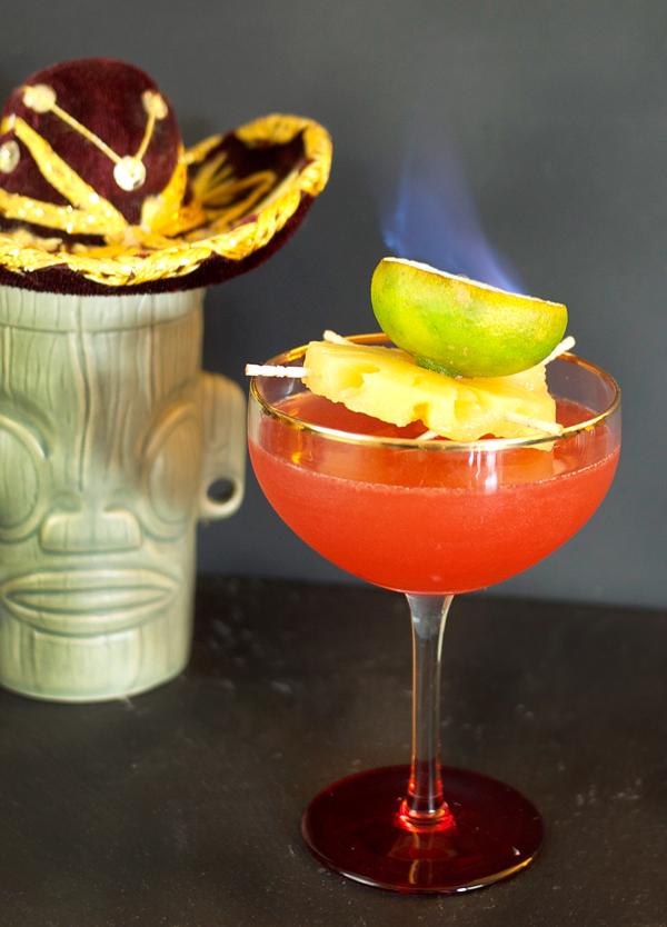 Little Pink Sombrero Cocktail // stirandstrain.com