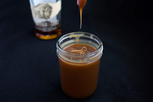 Vanilla Bourbon Caramel Sauce // stirandstrain.com