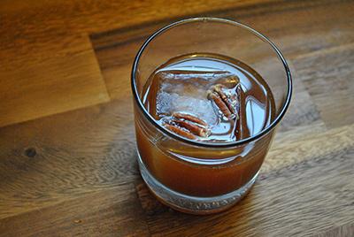 Pecan Old Fashioned Cocktail MxMo Roundup // stirandstrain.com
