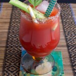 {now closed} Cucumber Basil Caesar and a Caesars Cocktail Book Giveaway!