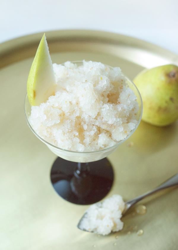 Honeyed Pear and St. Germain Granita // stirandstrain.com