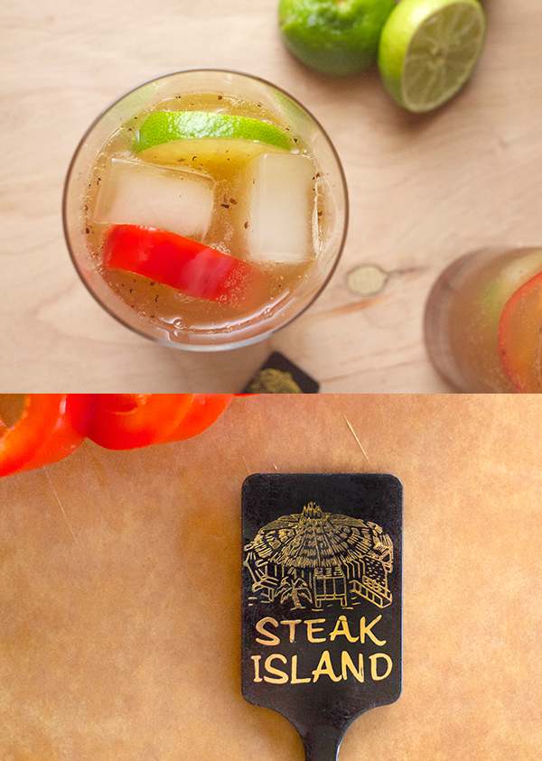 Steak Island Cocktails // stirandstrain.com