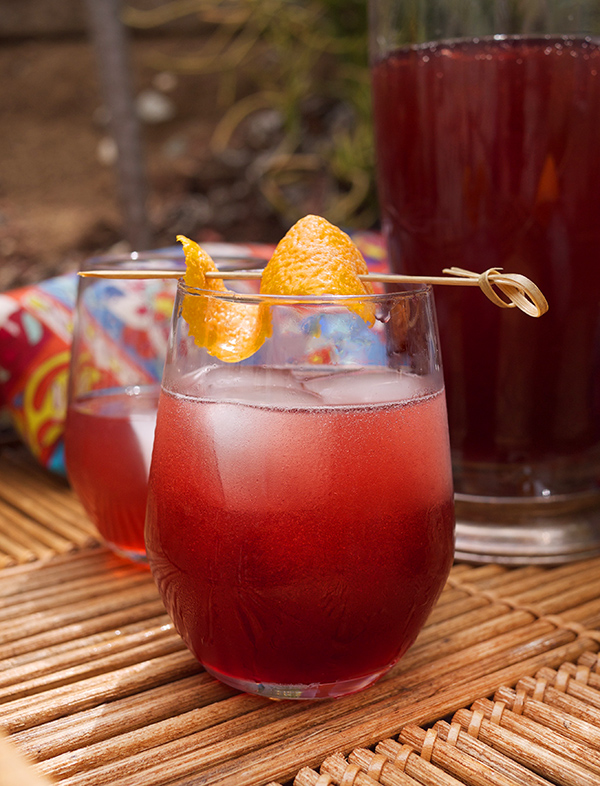 Sparkling Pomegranate and Cocchi Rosa Cocktails // stirandstrain.com