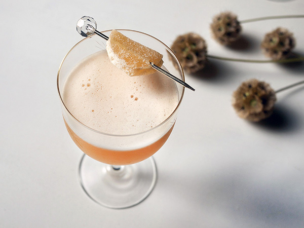 Fresh Ginger Amaretto Sour Cocktails // stirandstrain.com