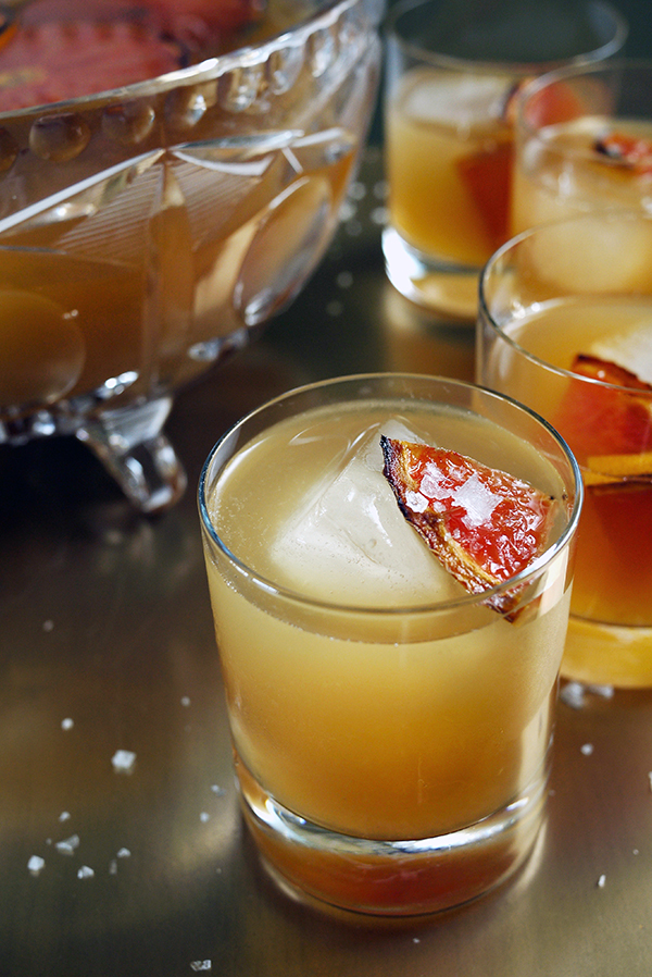 Brûléed Grapefruit and Mixed Citrus Punch with Vanilla and Piloncillo Reduction // stirandstrain.com