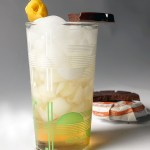 Cocktail Pairings: a Bauchant highball with Taza chocolate