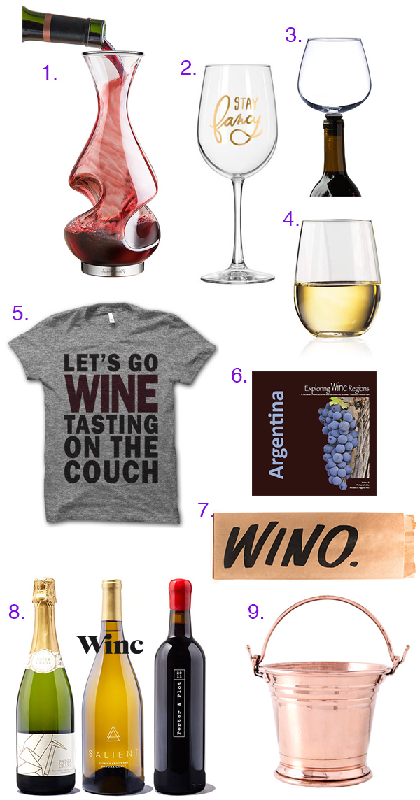 Holiday Gift Guide: Wine Lovaaaahhhhh!!!! // stirandstrain.com