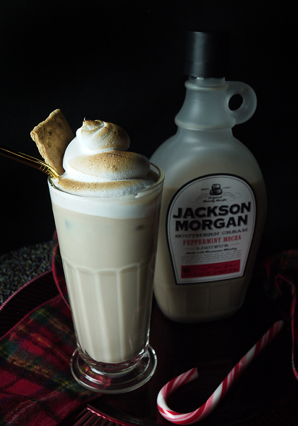 Peppermint Mocha S'Mores Cocktails with Brown-Butter Bourbon and Brûléed Marshmallow Creme // stirandstrain.com