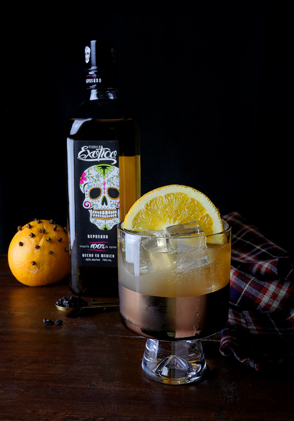 Fruitcake Cocktail with Exotico Tequila // stirandstrain.com