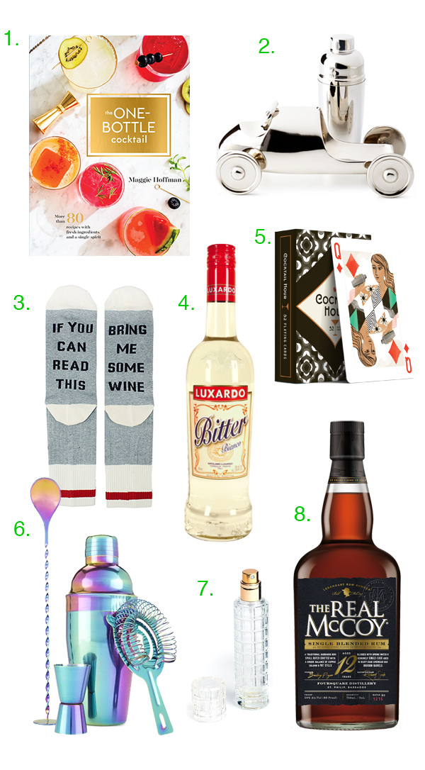 Holiday Gift Guide: Stocking Stuffers for Booze Lovers // stirandstrain.com