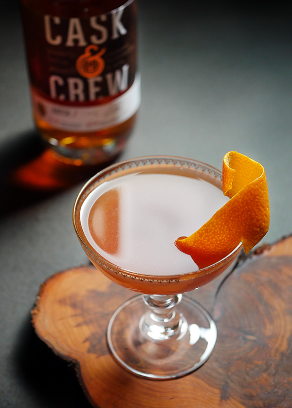 Whiskey Round the World Cocktail with Cask and Crew Walnut Toffee Whiskey // stirandstrain.com