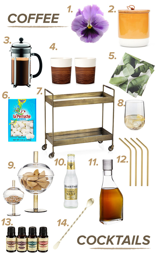 Bar Cart Styling: From Coffee to Cocktails, a day to night transformation // stirandstrain.com