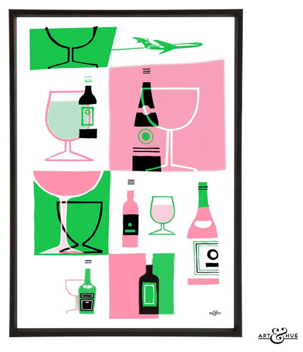 Art and Hue Cocktail Prints for the Jet Set Cocktail Life // stirandstrain.com