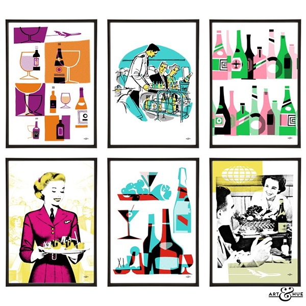 Art and Hue Cocktail Prints for the Jet Set Cocktail Life // stirandstrain.com