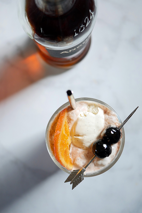 Angostura Rum & Black Cherry Soda Float // stirandstrain.com
