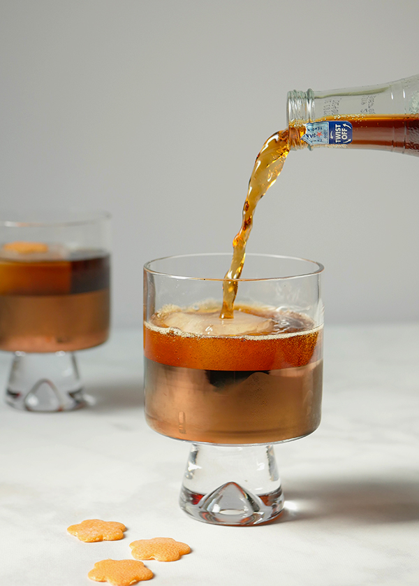 The Negroni Nero Cocktail // stirandstrain.com