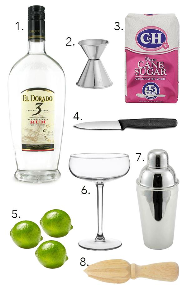 Outfitting a bar under $50: The Daiquiri Edition // stirandstrain.com