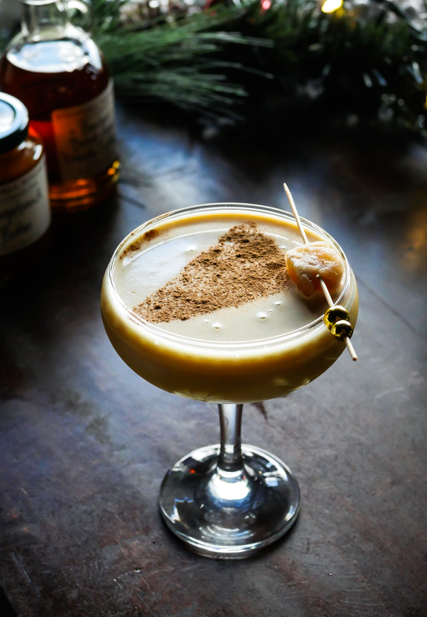 Cocktail Pantry Twists: Maple Gingerbread Butter Flip // stirandstrain.com