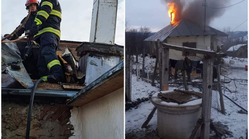 Atenție la coșurile de fum! În ultimele 72 de ore, pompierii buzoieni au intervenit la opt incendii