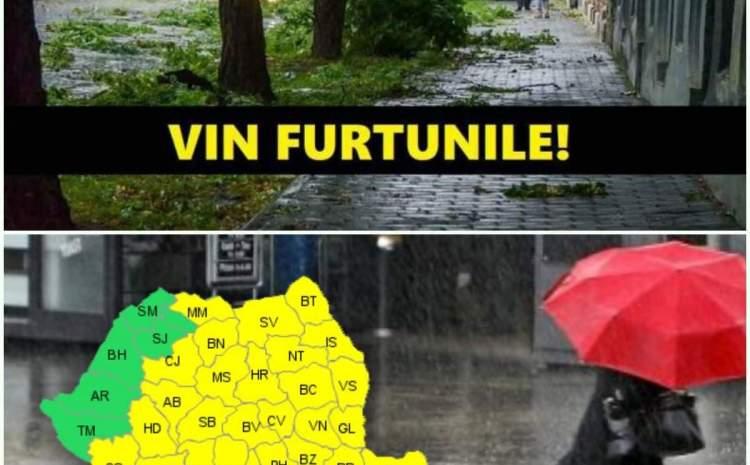 Cod galben de inundaţii pe râuri din Transilvania şi Crişana, până marți la prânz. Care sunt județele vizate