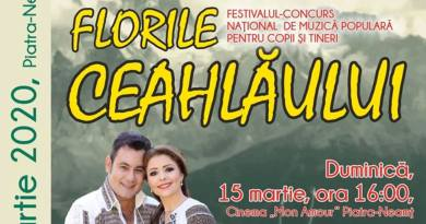 """Festivalul """"FLORILE CEAHLĂULUI"""", ediția a XXXII-a!"""