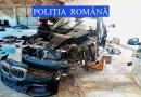 Mașini de lux furate din Anglia și dezmembrate în Neamț! Două persoane reținute (video)