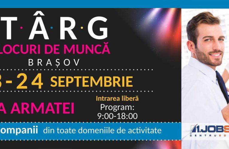 În perioada 23-24 septembrie va avea loc la Brașov cel mai mare târg de locuri de muncă