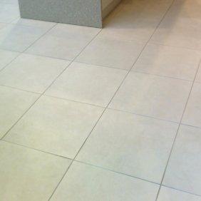 Textured Ceramic Tiled Shop Floor After Deep Cleaning Stirling