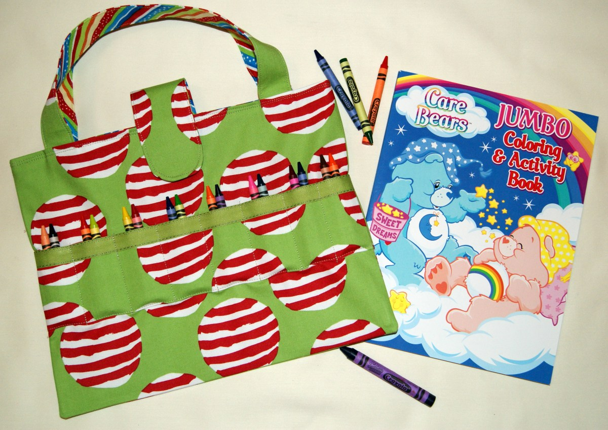 Great All-in-One Coloring Book n Crayons Tote