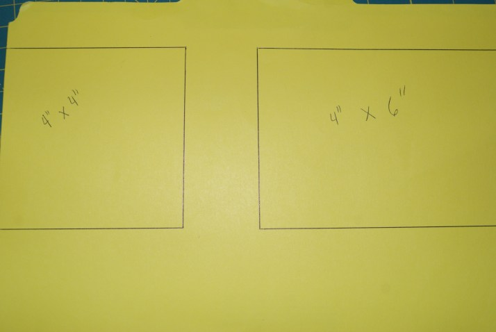 Used an old file folder to make my template guide.