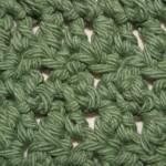 Seed stitch pattern, close up