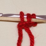Sliding on to your holder, knitting needle