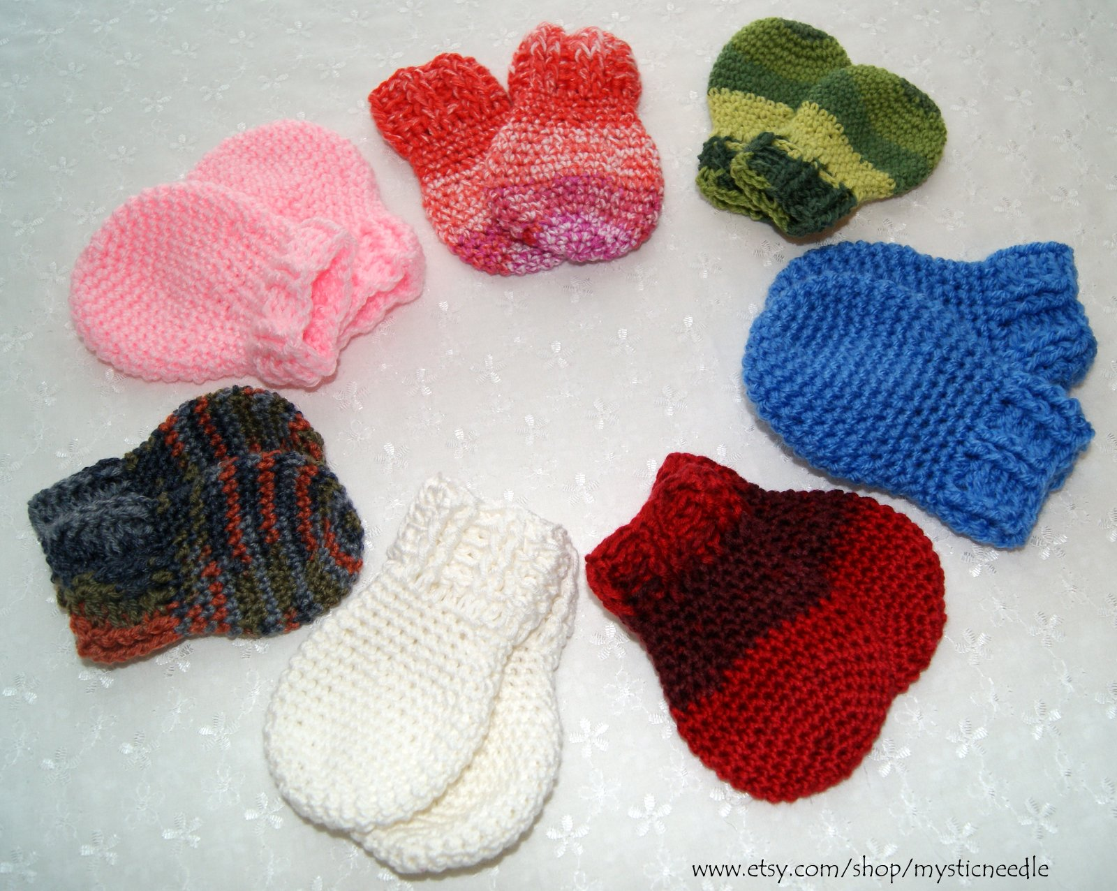 Crochet Thumbless Mittens Stitch4ever