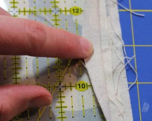 straighten fabric edge