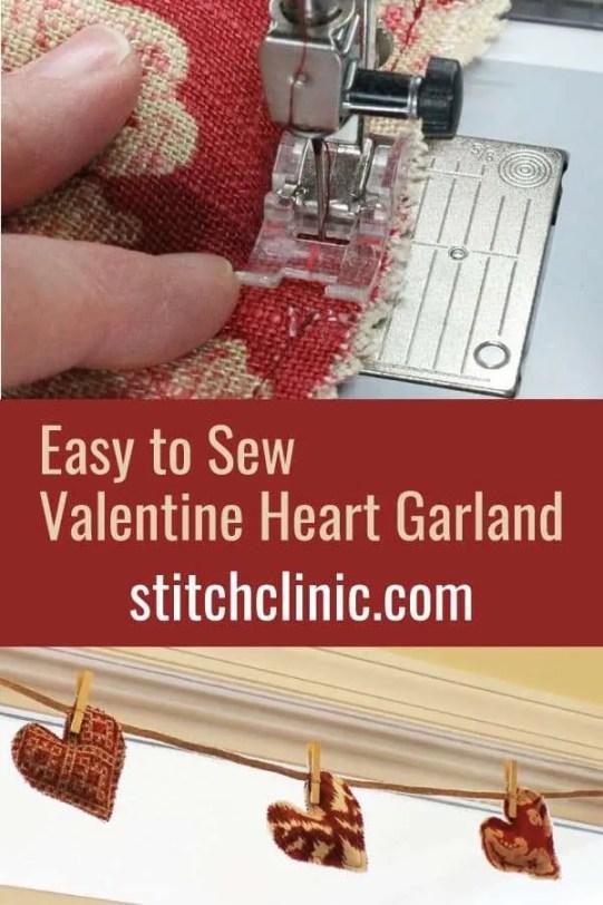 Easy to Sew Valentine Heart Garland
