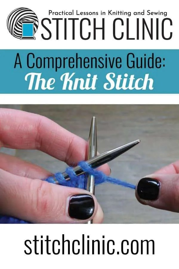 Pin to the comprehensive guide of the Knit Stitch