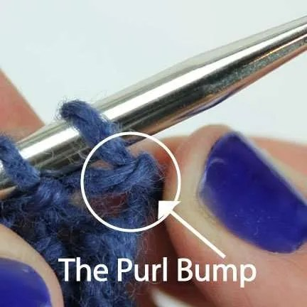 upclose image of the purl bump