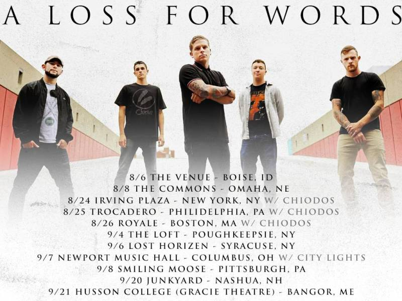 A Loss For Words release more tour dates