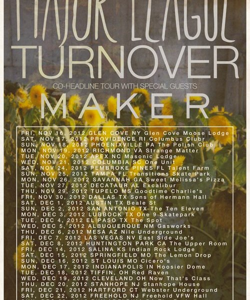 Major League and Turnover to go on tour this fall