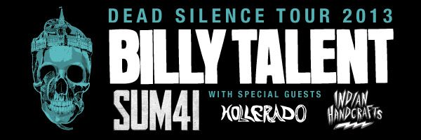 Billy Talent announce Dead Silence tour 2013