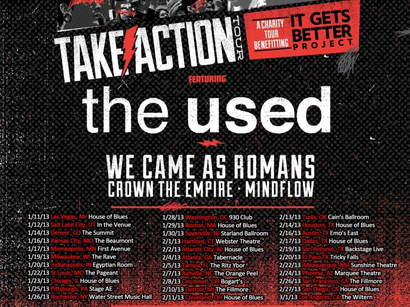 Take Action Tour 2013 line-up and dates released