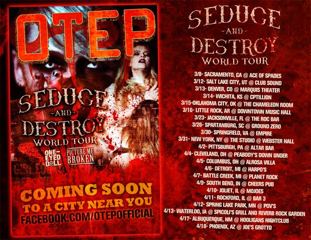 Otep to headline the Seduce and Destroy tour