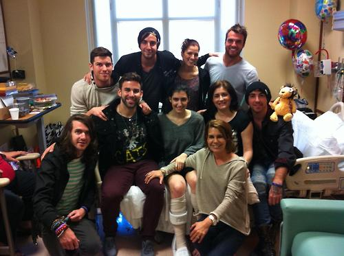 Mayday Parade And All Time Low Meet Fan in Hospital