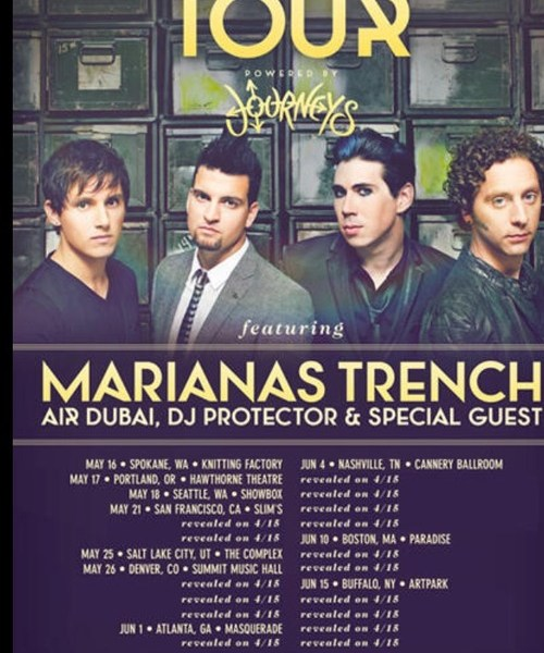 Marianas Trench Announce Tour Dates