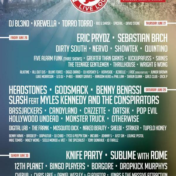Changes to the Boonstock lineup
