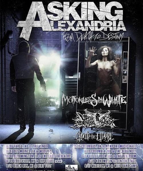 Asking Alexandria and Motionless In White Announce Tour